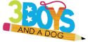 3 boys and a dog logo